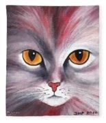 Cat Eyes Red Fleece Blanket