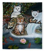 Cats In The Wild Fleece Blanket