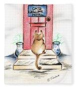 Cat's Welcome Motel Fleece Blanket