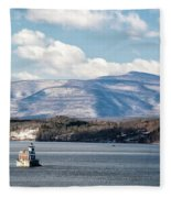Catskill Mountains With Lighthouse Fleece Blanket