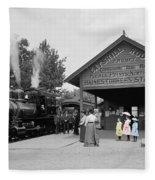 Catskill Railroad Fleece Blanket