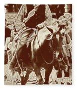 Cowboy Comtemplation Fleece Blanket