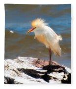 Cattle Egret In Breeding Plumage Fleece Blanket