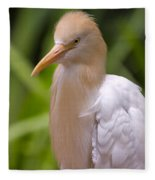 Cattle Egret Fleece Blanket