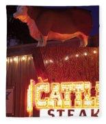 Cattlemen's Neon Stock Yards Fleece Blanket