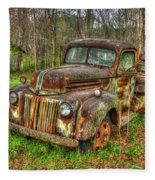Caught Behind 1947 Ford Stakebed Pickup Truck Art Fleece Blanket
