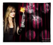 Caught In The Act Of Setting The Stage On Fire Fleece Blanket