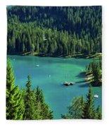 Caumasee Lake Switzerland Fleece Blanket