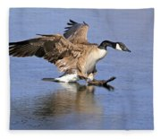 Caution - Ice Is Slippery Fleece Blanket