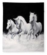 Cavalli Verticali Fleece Blanket