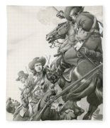 Cavalry Charge Fleece Blanket