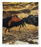 Cave Art: Bison Fleece Blanket