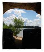 Cave With A View. Fleece Blanket