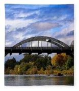 Caveman Bridge Fleece Blanket