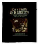 Caverns And Rabbits Fleece Blanket