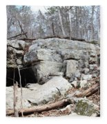Caves At Lake Guntersville Fleece Blanket