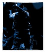 Cdb Winterland 12-13-75 #11 Enhanced In Blue Fleece Blanket