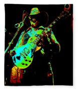Cdb Winterland 12-13-75 #4 Enhanced In Cosmicolors Fleece Blanket