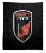 C.d.c.r Special Emergency Response Team - S.e.r.t. Patch Over Black Fleece Blanket