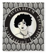 Cecely Bloom Deco Portrait Fleece Blanket