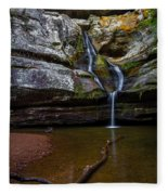 Cedar Falls In Hocking Hills State Park Fleece Blanket