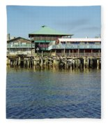Cedar Key Waterfront Fleece Blanket