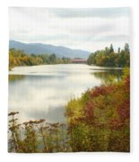Cedar Street Bridge Fleece Blanket