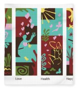 Celebrate Life 4 Panels Fleece Blanket