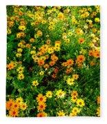Celebration Of Yellows And Oranges Study 4 Fleece Blanket