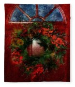 Celestial Christmas Fleece Blanket