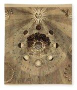 Celestial Map 1710b Fleece Blanket