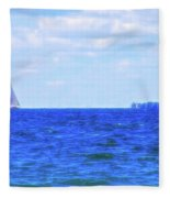Celestial Skies Sailing The Blue Fleece Blanket