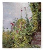 Celia Thaxters Garden Fleece Blanket
