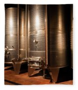 Modern Wine Cellar  Fleece Blanket