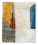 Cello No 2 Fleece Blanket
