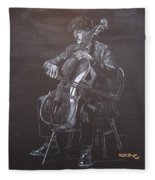 Cello Player Fleece Blanket