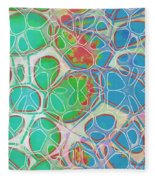 Cells 11 - Abstract Painting  Fleece Blanket