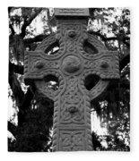 Celtic Cross In Emmet Park Fleece Blanket