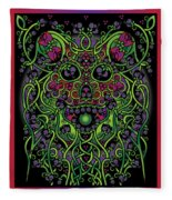 Celtic Day Of The Dead Skull Fleece Blanket