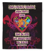 Celtic Eclipse Of The Heart Fleece Blanket