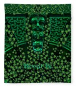 Celtic Green Man Fleece Blanket