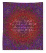 Celtic Romeo And Juliet Fleece Blanket
