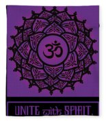 Celtic Tribal Crown Chakra Fleece Blanket