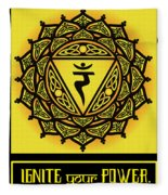 Celtic Tribal Solar Plexus Chakra Fleece Blanket