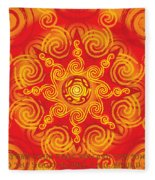 Celtic Tribal Sun Fleece Blanket