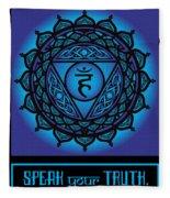 Celtic Tribal Throat Chakra Fleece Blanket