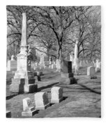 Cemetery 3 Fleece Blanket