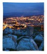 Cemetery Overlooking Fes, Morocco Fleece Blanket