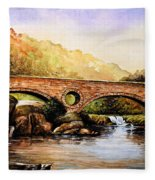 Cenarth Bridge And Falls Fleece Blanket