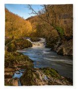 Cenarth Falls Fleece Blanket